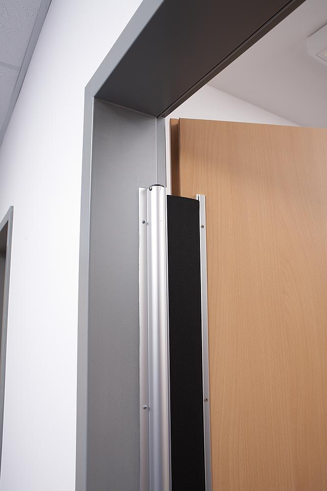 Example of the Hotron FP200 Finger Guard on an automatic swing door