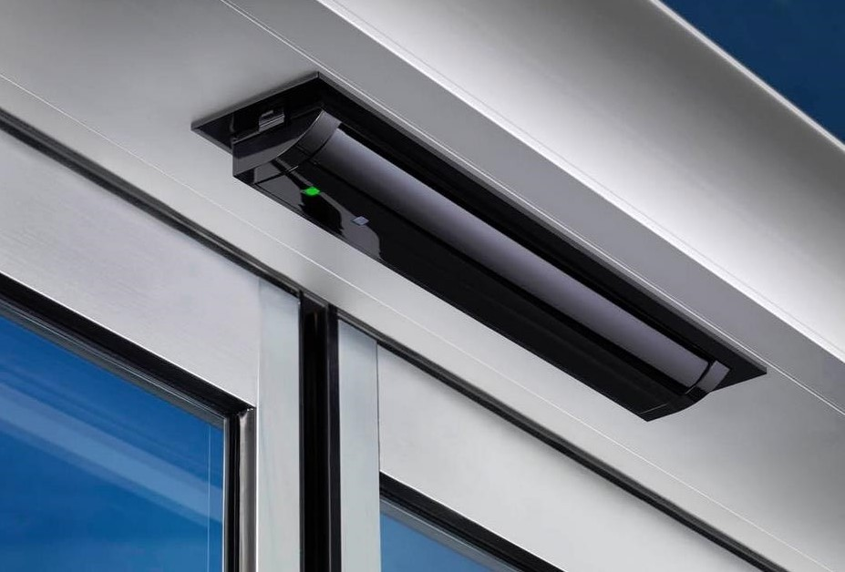 Hotron HR100-CT Sensor Internally Mounted in a Sliding Door